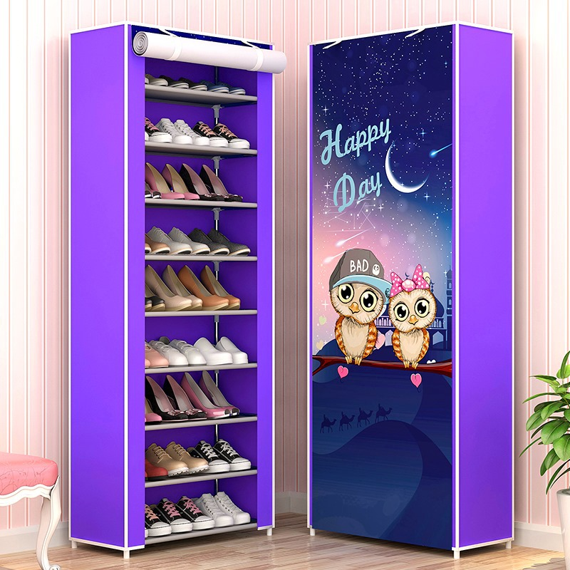 10 Layers Nonwoven Fabric Shoe Rack DIY Assembly Storage Shoes Cabinet Standing Dustproof Home Shoes Organizer