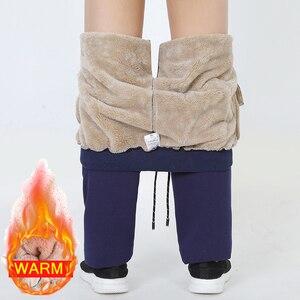 Image 1 - Heren Winter Plus Kasjmier Fluwelen Dikker Broek Mannen Warme Broek Heren Trainingsbroek Merk Kleding Man Elastische Taille Broek 666