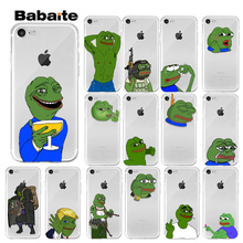 Babaite Cute Frog Meme Animal phone 11 Transparent Cell Phone Case for iPhone 8 7 6 6S Plus 5 5S SE XR X XS MAX Coque Shell