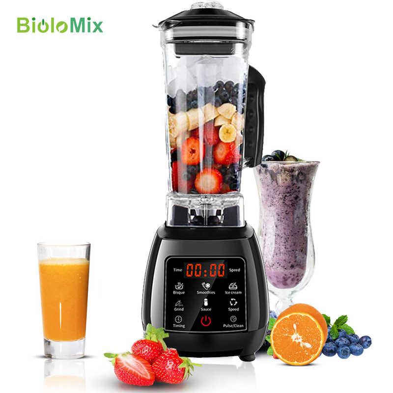 BPA LIVRE Touchscreen Digital Automático 2200W 2L Profissional Misturador Liquidificador Processador de Alimentos Espremedor De Alta Potência Gelo Smoothies de Frutas
