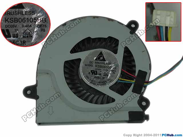 Delta KSB06105HB DF75 DC 5 V MAXIMAL 4-draht Server Laptop Fan - WLOG.ME