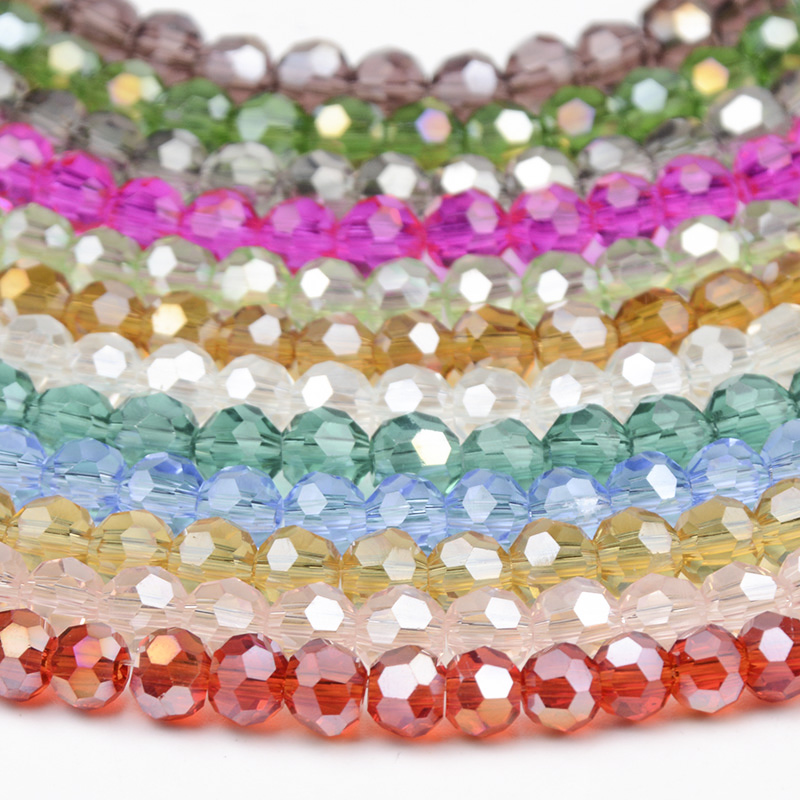 4*6mm red Beads Rainstone Crystal Faceted Gems Loose Beads 98pcs