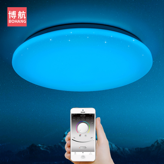 2018 NEW Modern LED Ceiling Light 25W Smart Remote Control RGB Dimmable Color Changing Lamp For Livingroom Bedroom AC165-265V