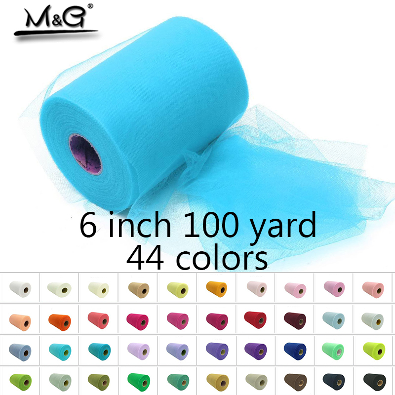 6 inch 100 yard Tulle Rolls Profeshion for make handmade tutu dress or tulle table Wedding Party Decoration quality 44 Colors