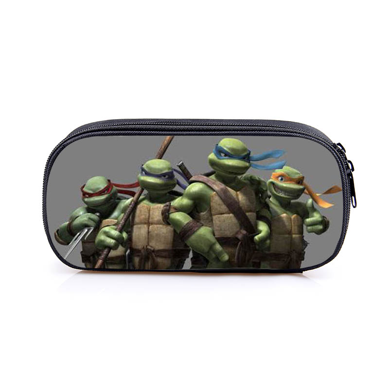 Teenage Mutant Ninja Turtles TMNT Boys Cartoon Pencil Case Bag School Pouches Children Student Pen Bag Kids Purse Wallet 16 inch anime teenage mutant ninja turtles nylon backpack cartoon school bag student bags double shoulder boy girls schoolbag page 5