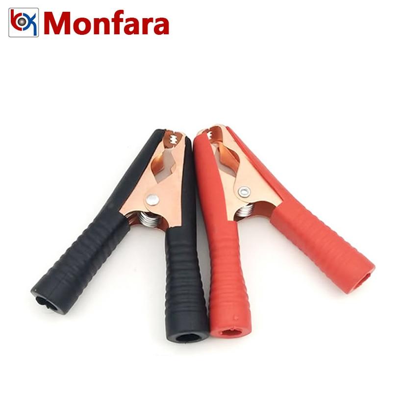 4Pcs Car Auto Battery Terminals Cable Alligator Clamp Clip 100A Red Black