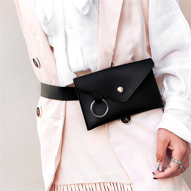 2018 New Arrival Waist Bags Fashion Women Pure Color Bag Ladies Ring Leather Messenger Shoulder Bag bolsos mujer SC