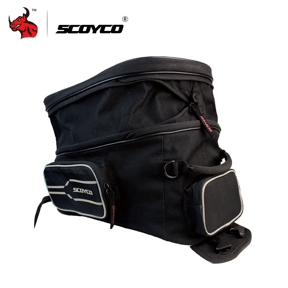 SCOYCO Black Motorcycle Bag Motocicleta Oil Tank Bag Motorcycle Racing Backpack Motorcycle Tank Bag Motorcycle Helmet Backpack motorcycle expandable magnet and mechanical ring fix tank bag racing backpack for benelli bn600 tre 899 k