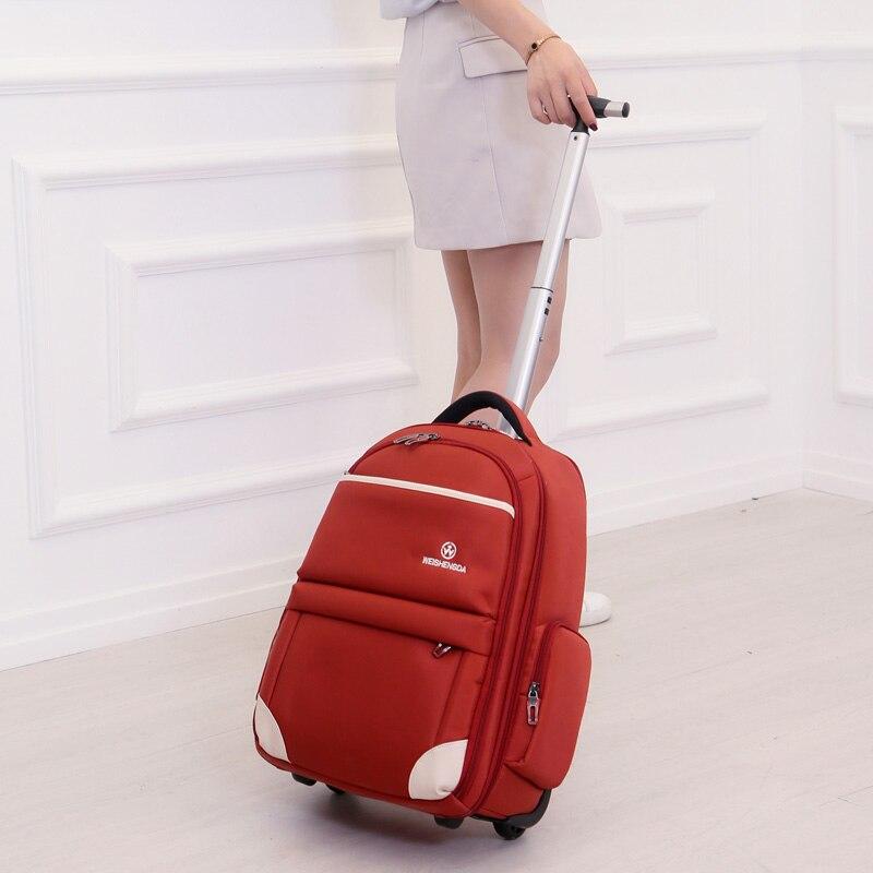 Nouveau mode étanche Oxford chariot voyage sac à dos main bagages valise sacs sur roues unisexe roulant sac de sport WSD-12911