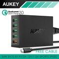 Aukey Быстрая Зарядка 2.0 54 Вт 5 Порт Micro USB Для Рабочего Зарядное Устройство Мобильного QC2.0 Уолл Зарядка ЕС США Plug для iPhone Samsung S6 SONY HTC