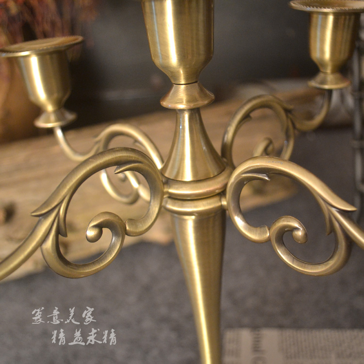 Retro Candlestick Candle Holder 5 Stands Candlelight Dinner Wedding Gift Home Wedding Decor Party Christmas Candelabra