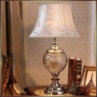 Luxary классический американский спальне свет стол фойе европейские Кристалл Настольная лампа стекла высотой Настольный светильник прикрова