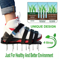 JDSR Garden Grass Spikes Guangdong Lawn Grass Spikes Ripper Gardening Tools Lawn Aerator Shoes