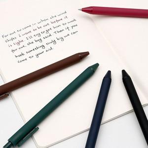 Image 2 - 5 unidades/pacote youpin kaco 0.5mm assinar caneta de assinatura caneta de tinta lisa escrevendo durável assinando 5 cores para estudante escola/escritório trabalhador
