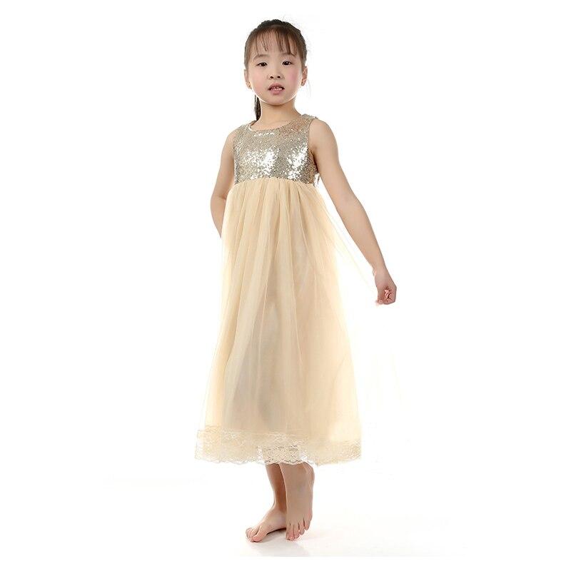 Kaiya Angel Wholesale Cream Tulle Flower Girl Dress Gold