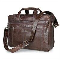 Luxury Designer Brand Handbag Business Men Briefcase Laptop Bag Big Capacity Male Shoulder Genuine Leather Men