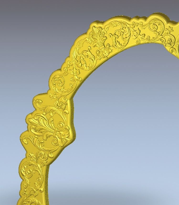 3d model relief  for cnc in STL file format Frame_Mirror panno hunting 2 for cnc in stl file format 3d model relief