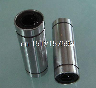 где купить  (2)LM 5LUU  5*10*29mm Round Long Type CNC Linear Motion Metal Shield Bearing  дешево