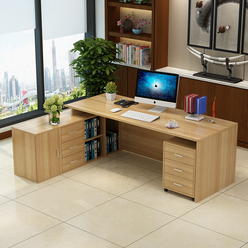 0211TB009 Modern MDF customized office furniture free combination of executive desk boss manager office desk table manager folders with 4000mah mobile power multifunction cument holder manager holders office supply work accessories
