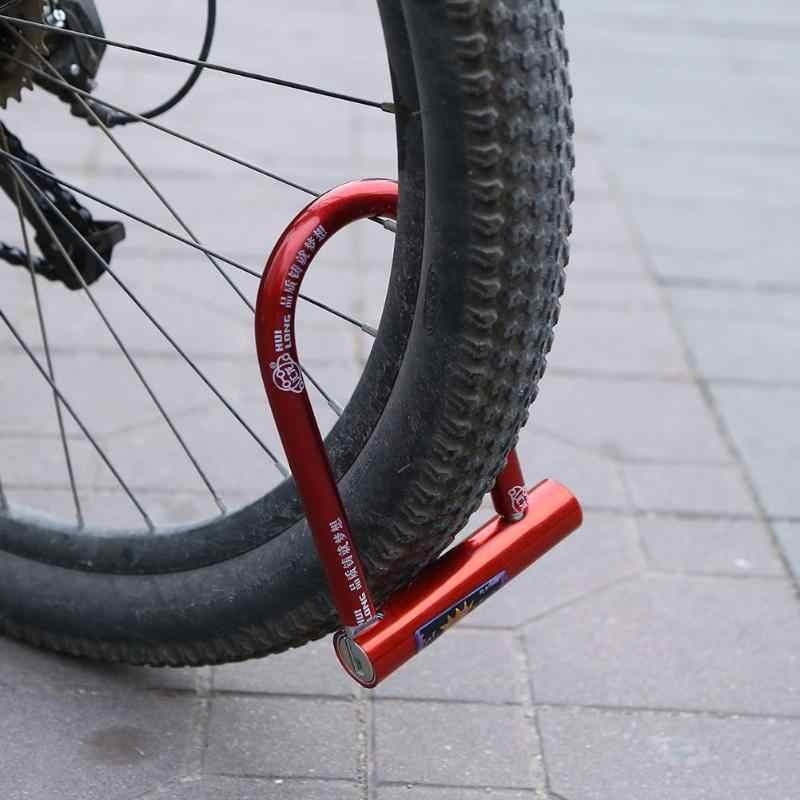 2019 Universal Sepeda U Lock Anti-Theft MTB ROAD Sepeda Kunci Sepeda Bersepeda Aksesoris Baja Tugas Berat Keamanan Sepeda kabel U-Lock