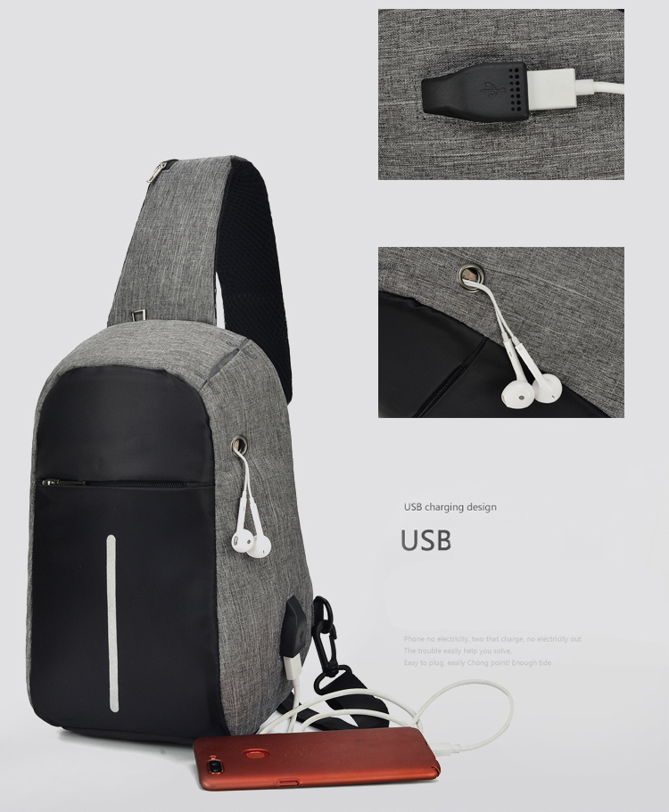 83197b48fd09 Casual Anti Theft Travel Chest Bag Men Single Shoulder Strap Cross ...