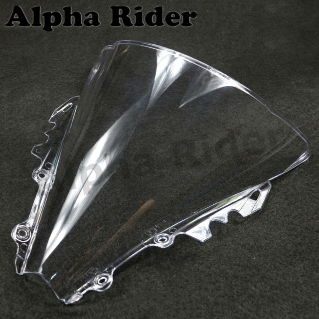 Motorcycle ABS White Double Bubble Windscreen for YAMAHA YZF 600 R6 06-07 Clear Windshield YZF 600 R6 2006 2007 Windproof Glass