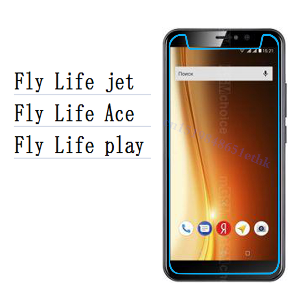 Smartphone 9H Tempered Glass for Fly Life jet play Protective Film Screen Protector cover phone For Fly Life Ace