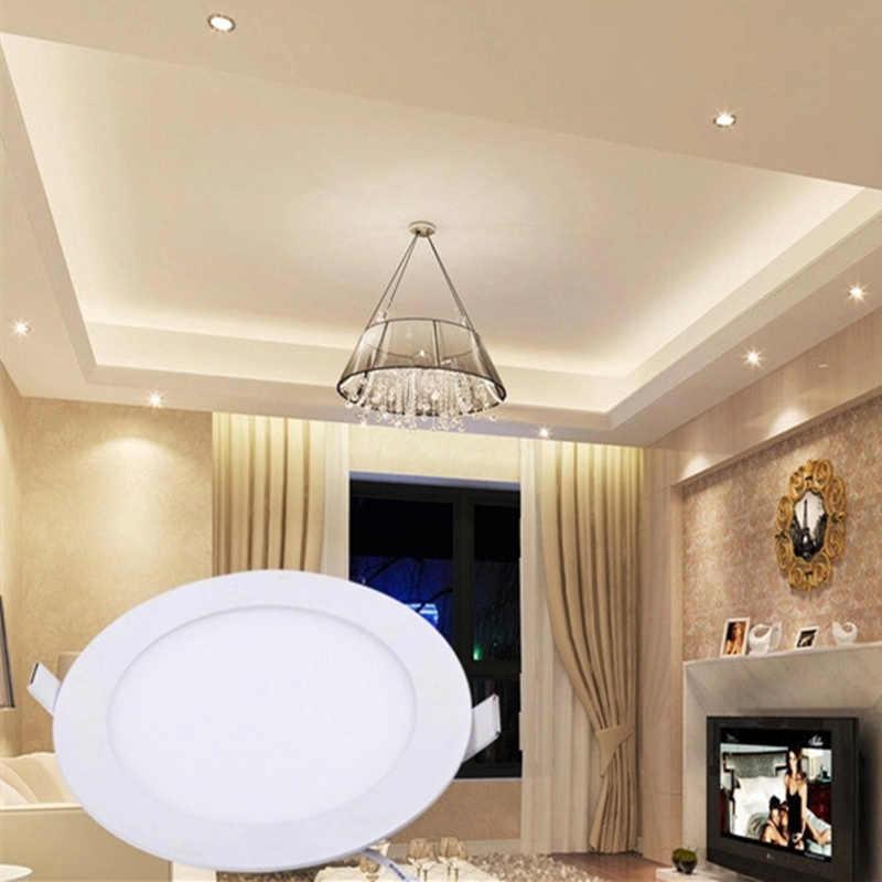 kitchen fog ceiling,highlight energy-saving lamps 3W 4W 6W 9W 12W 15W 18W 21W 24W led downlight thin round LED panel light flat