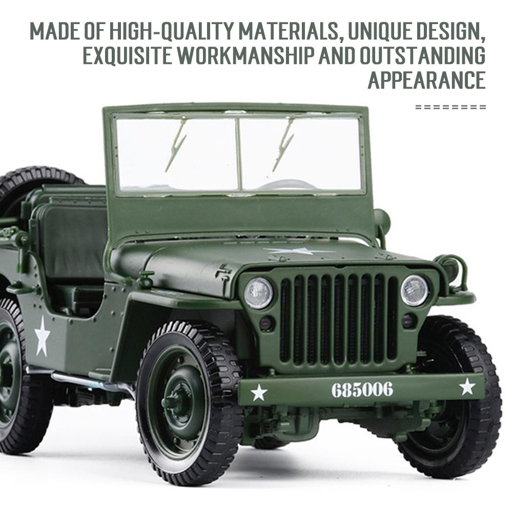 Willis Military Jeep Tactics 1:18 Diecast Model Cars Collections /&Gift Toy F4I6