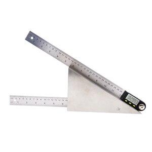 Image 5 - מד זווית נירוסטה דיגיטלי מד זווית SHAHE 360 תואר goniometer זווית finder מד דיגיטלי זווית שליט goniometer