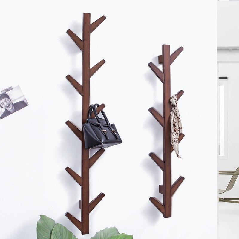 Galhos de árvores, cabides de parede, varanda, decoração, roupas rack, decoração da parede. C - 2