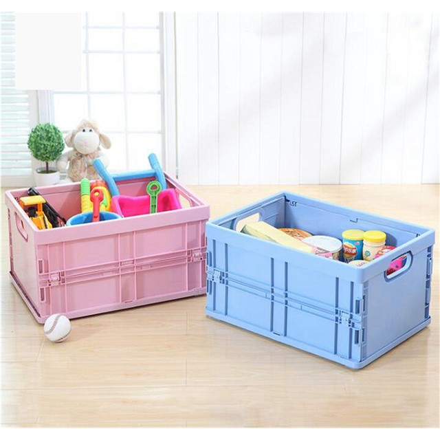 Plastic Foldable Toy Storage Box Collapsible Storage Bin Basket Easy Food Clothes Storage Save Space Office Home Car Use & Online Shop Plastic Foldable Toy Storage Box Collapsible Storage Bin ...