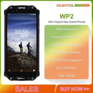 """Image 2 - OUKITEL WP2 IP68 Waterproof NFC Smartphone 6.0"""" 18:9 MT6750T Octa Core 4GB RAM 64GB ROM 10000mAh Fingerprint Mobile Phone"""