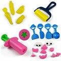 21 unids/set herramienta plastilina plastilina molde de arcilla maleable herramienta kit play doh 3d conjunto diy juguetes creativos juguetes de arcilla de polímero suave kid T