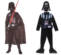 Deluxe Child Boy Star Wars Costume The Force Awakens Villain Halloween Cosplay Darth Vader Costume With