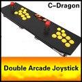 Cdragon duplo roqueiro jogo joystick de arcade KOF 97 USB computador joystick de arcade luta sem demora frete grátis