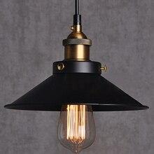 Окрашены железа старинные подвески лампа сельской местности эдисон лампы ретро кулон цоколь E27 старинные светильники Lampara чердак