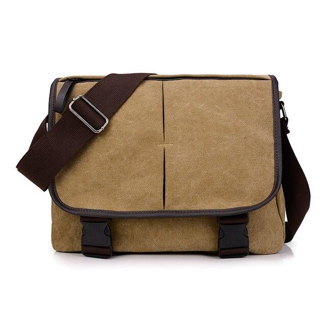2016 estilo Inglaterra dos homens Da Lona Do Vintage Ombro Crossbody Saco Saco do Mensageiro Preto Sacos de design Clássico Bolsa Pequenos Sacos De Viagem