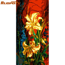 RUOPOTY 60x120cm Frame Abstract Flowers DIY Painting By Numbers Handpainted Oil Painting Modern Wall Art Picture For Home Decor(China)