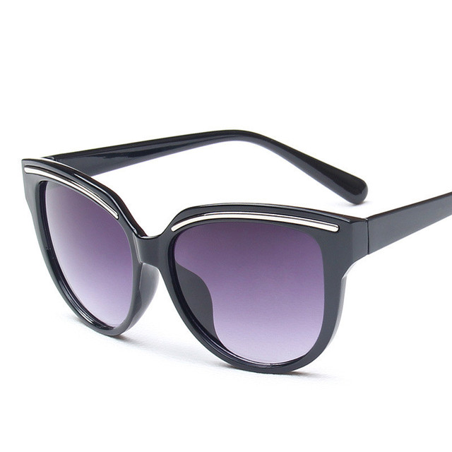 Fashion Cat Eye Sunglasses Women Brand Designer Vintage Mirror Eyebrow Design Sun Glasses UV400 Unisex Eyewear