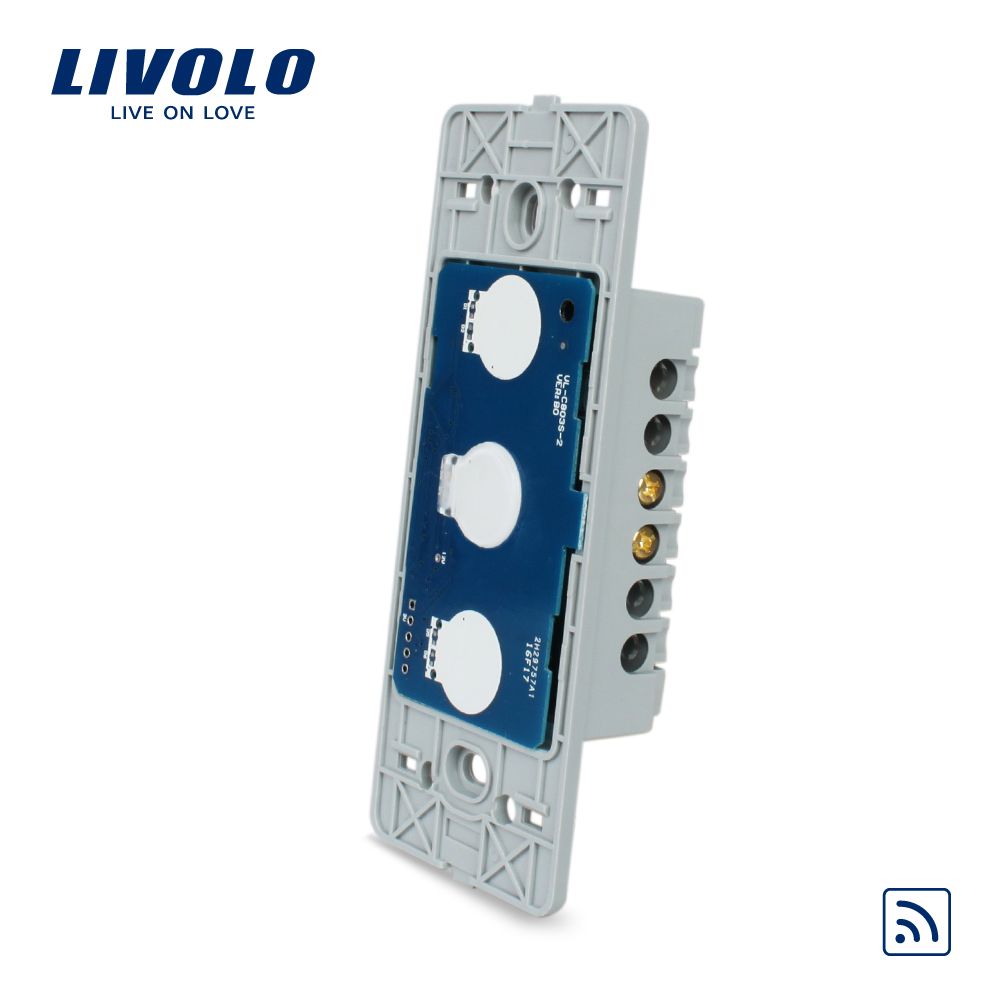Livolo US standard 1 gang  Wall Light Remote&Touch Switch , Without Glass Panel, AC110~250V ,VL-C501R smart home us au wall touch switch white crystal glass panel 1 gang 1 way power light wall touch switch used for led waterproof