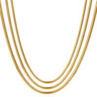 RINYIN Fine Jewelry чистый 18 К желтого золота Цепочки и ожерелья Solid Snake цепочку для Для женщин гравировкой Au750 16 18 cm 2 3 г