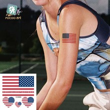 Body Art Waterproof Temporary Tattoos For Men Women American Flag Design Flash Tattoo Sticker CC6009