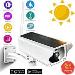 Outdoor Solar IP Camera Wireless WiFi 1080P Home Security Camera Video Recorder IP67 Waterproof Night Vision Camera 3C21
