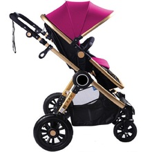 High landscape large suspension pneumatic wheels stroller with adjustable awning suitable to 0 36 months baby