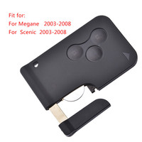 1PC Car Remote Key 3 Button Smart Card For Renault Megane Scenic Smart Card With Battery