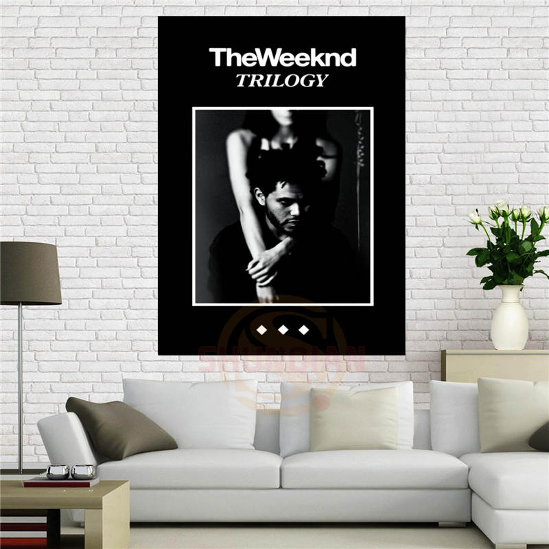 Custom Canvas Poster The Weeknd Trilogy Music Poster 90x60 Cm Home Decoration Cloth Fabric Wall Poster Print Silk Fabric