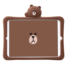 Case For ipad Kids Silicone Cute Cartoon Bear New 2017 2018 Air 12 Pro 9.7 mini 1 2 3 4 Shockproof Portable Washable Protective