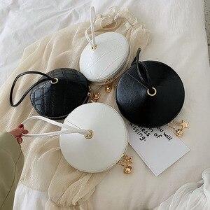 Image 4 - Fashion Circular PU Leather Handbag Small Round bag 2019 Circle Bags Small Purses and Handbags Brand Phone Bag Party Clutch