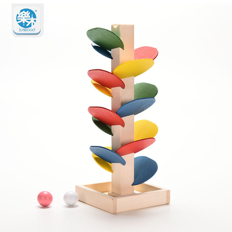 Logwood Montessori Wooden Toys Tree Marble Ball Run Track Game Wood Blocks for kids Intelligence Early Educational Toy  gifts mother garden high quality wood toy wind story green tea wooden kitchen toys set